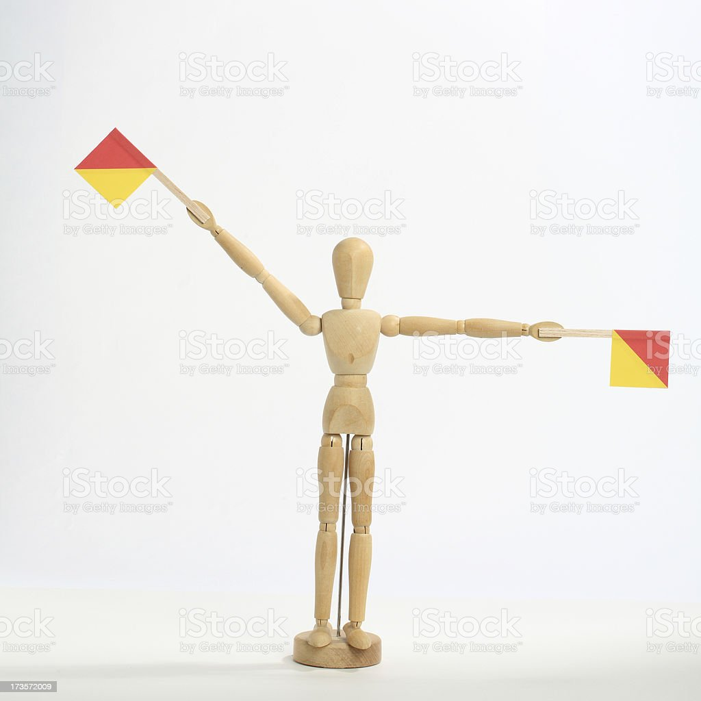 The letter 'Y' in semaphore royalty-free stock photo
