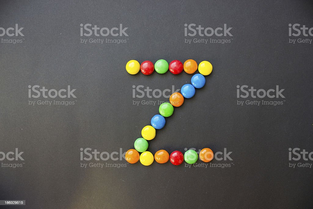 The Letter Z royalty-free stock photo