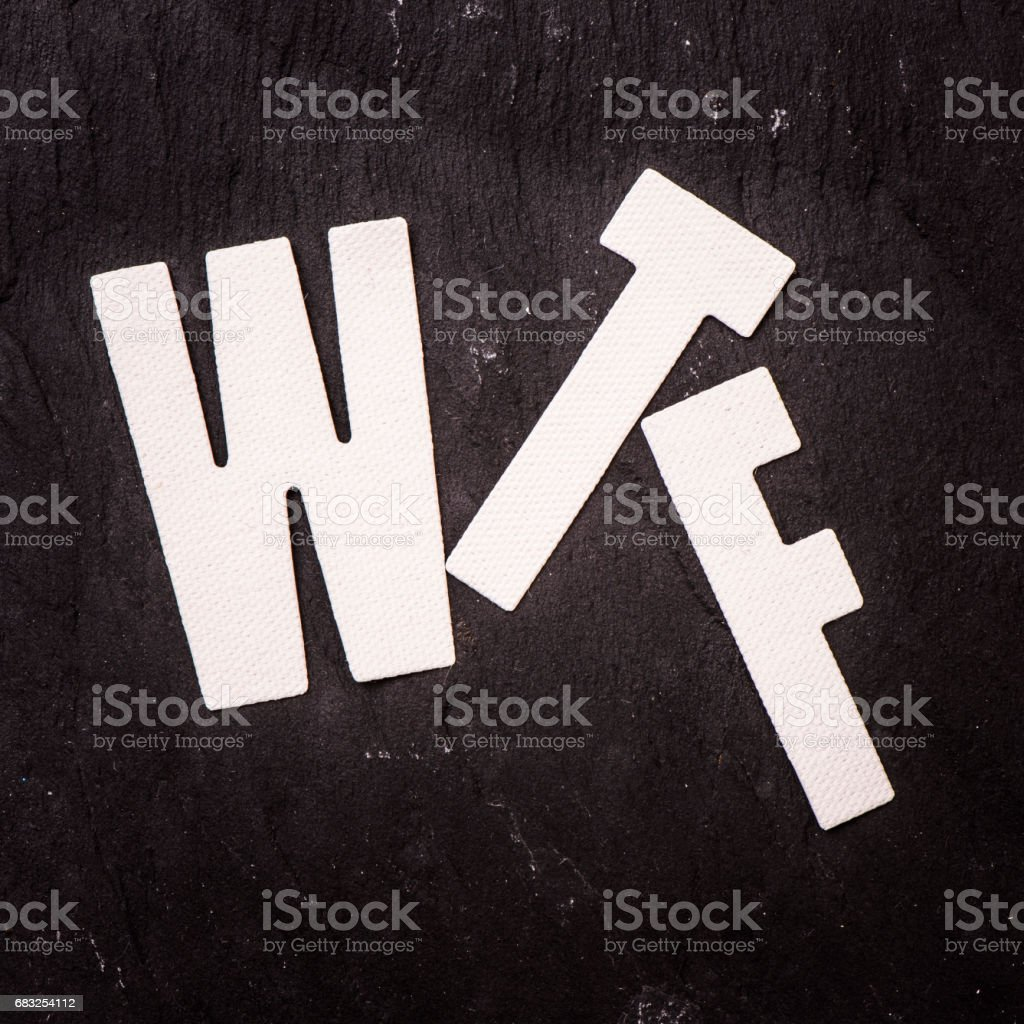 The letters WTF stock photo