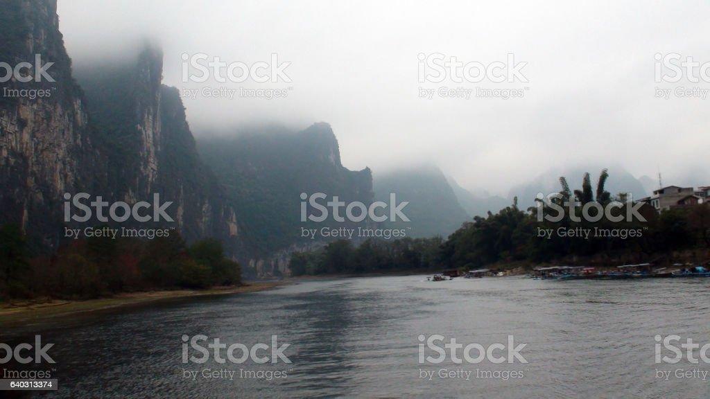 The Li River At Guangxi Zhuang Autonomous Region China.Asia stock photo