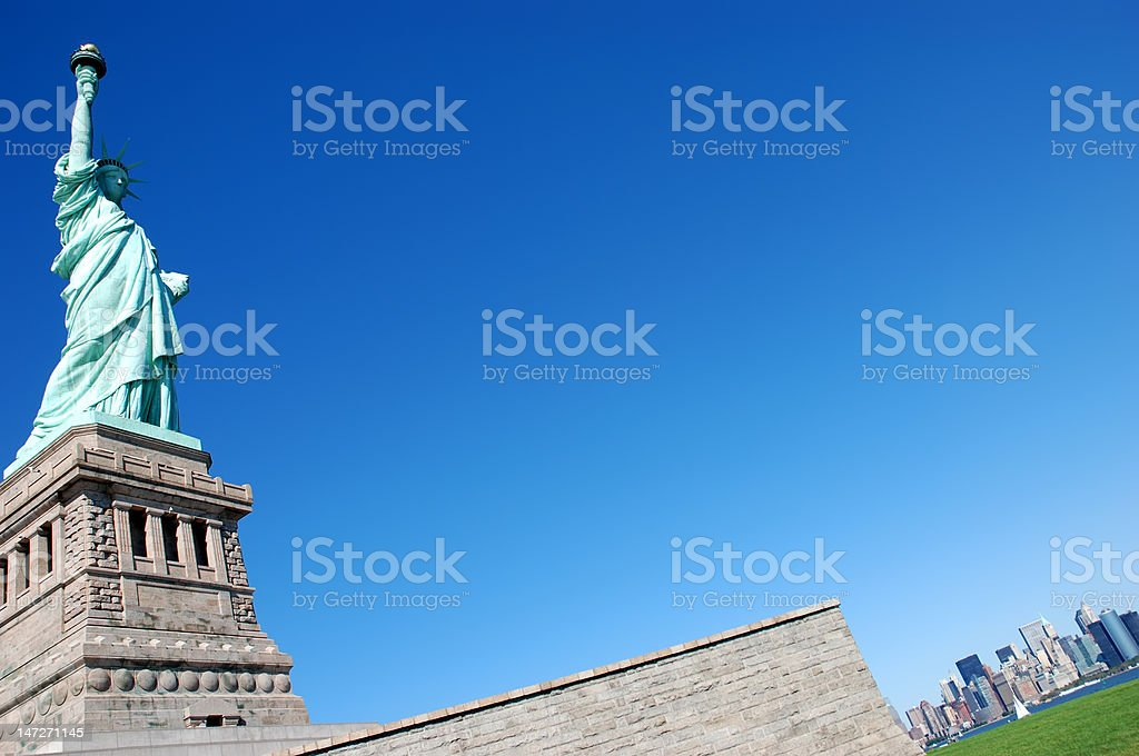 The Liberty Statue - New York royalty-free stock photo