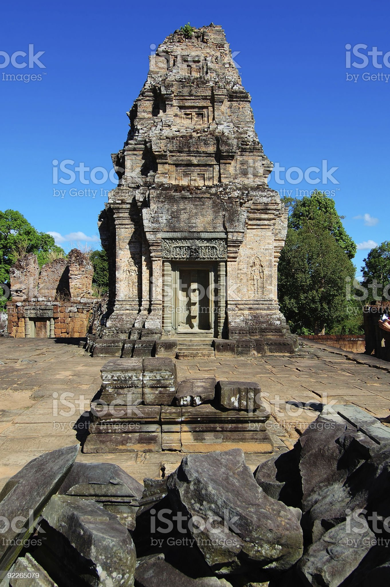 The library at East Mebon, Cambodia royalty-free stock photo