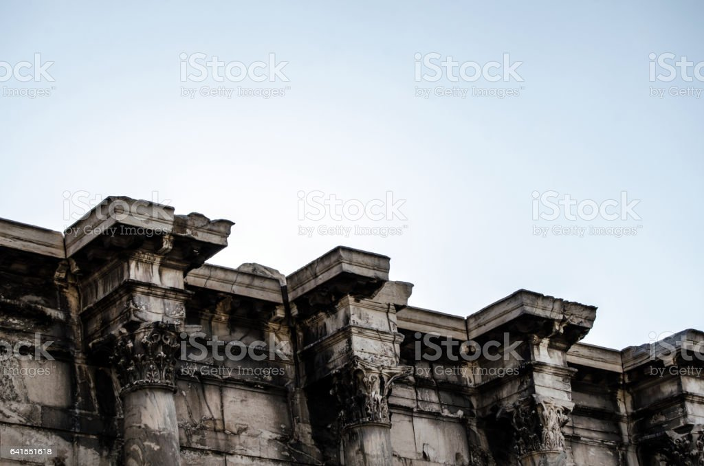 The library of Adrian in Athens stock photo