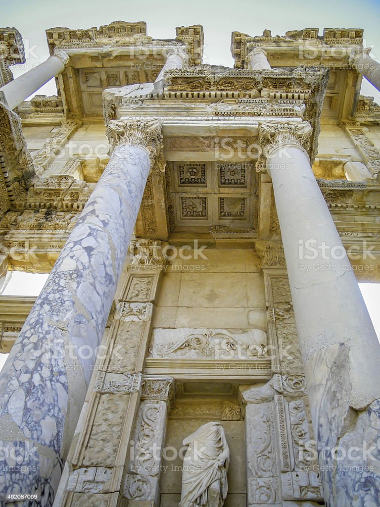 The Library of Celsus, Ephesus, Turkey royalty-free stock photo