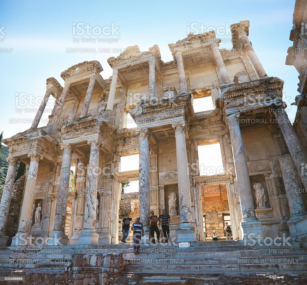 The Library of Celsus stock photo
