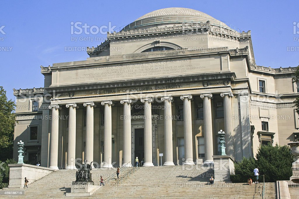 The Library of Columbia University stock photo