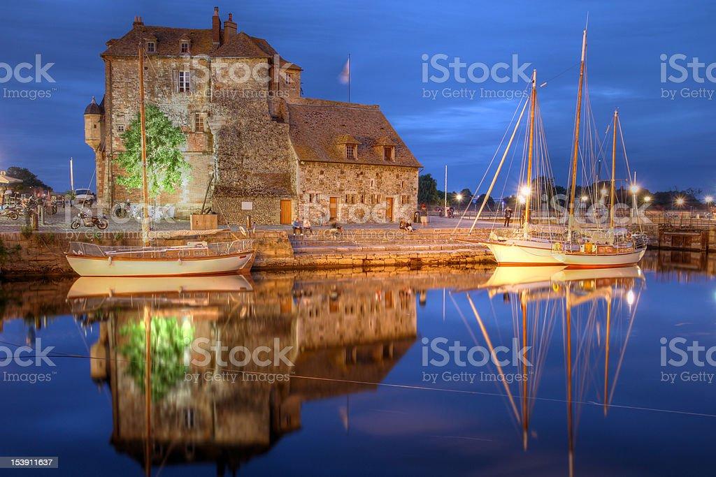 The Lieutenance, Honfleur, France stock photo