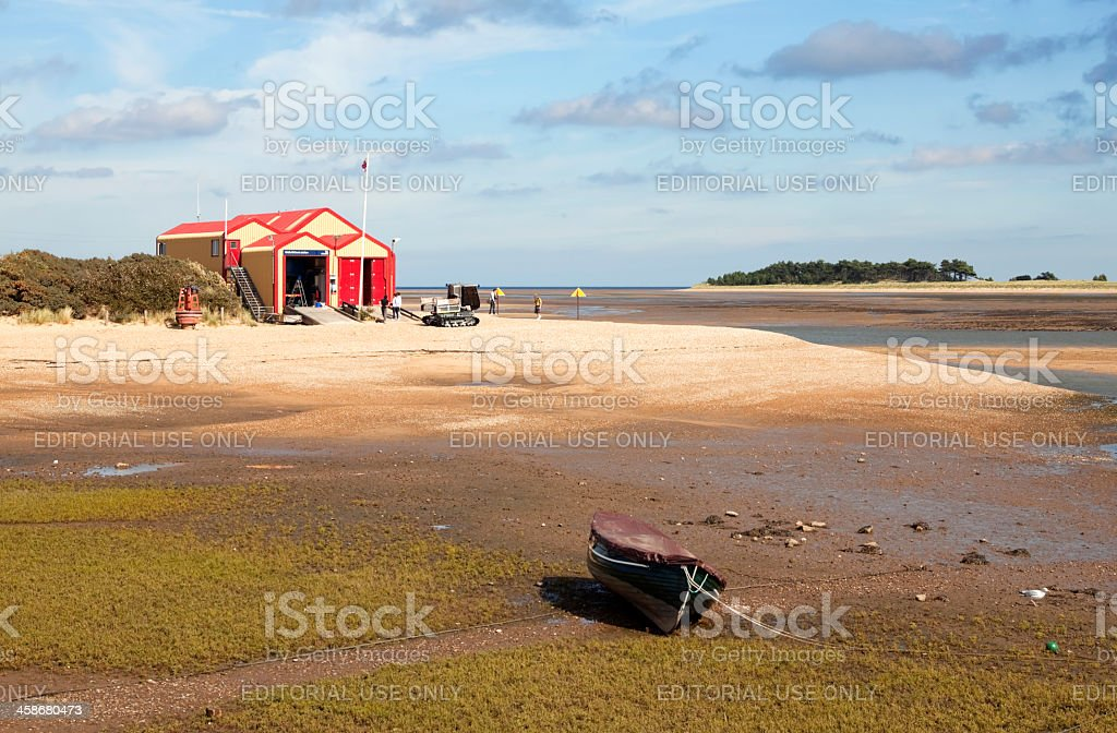 The Lifeboat House at Wells-next-the-Sea stock photo