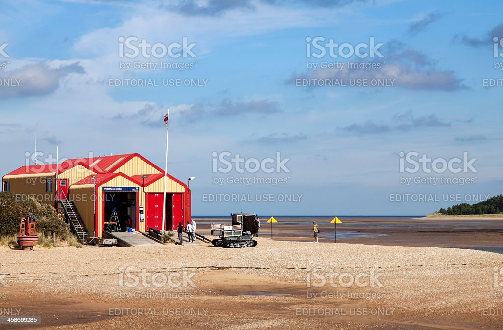 The Lifeboat House, Wells-next-the-Sea stock photo