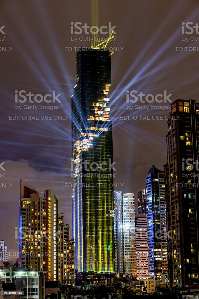 Bangkok, Thailand- August 29, 2016: The light and sound show. stock photo