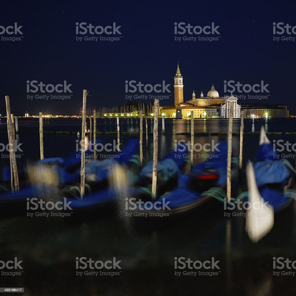 The Light of Venice Long exposure By Night. royalty-free stock photo