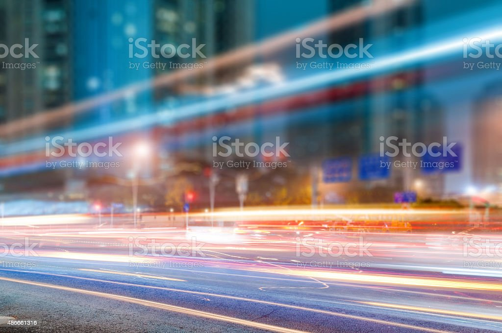 the light trails stock photo