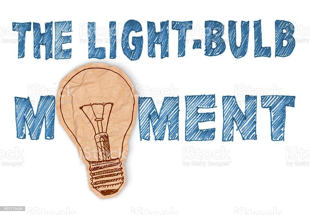 The light-bulb moment stock photo