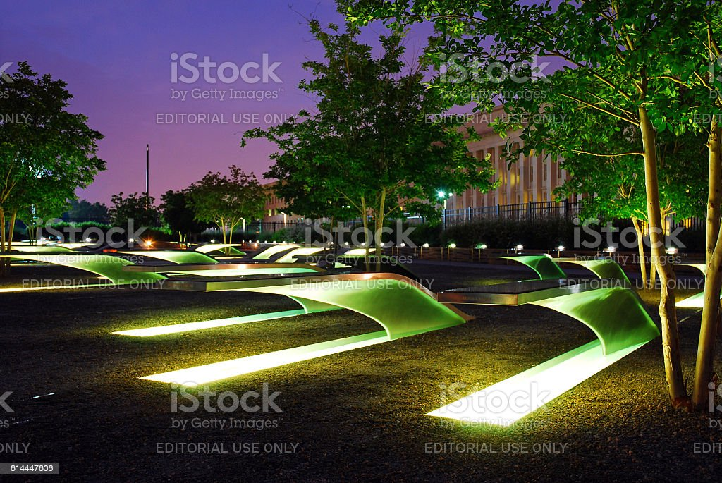 The Lighted Benches stock photo