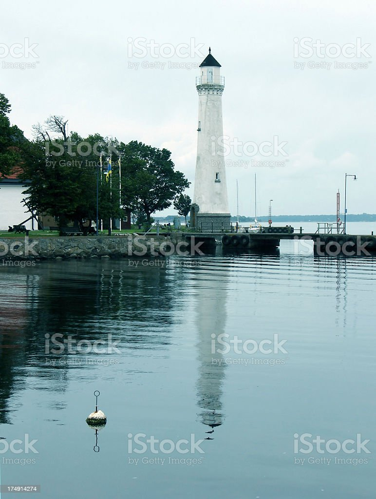the lighthouse at Karlskrona stock photo