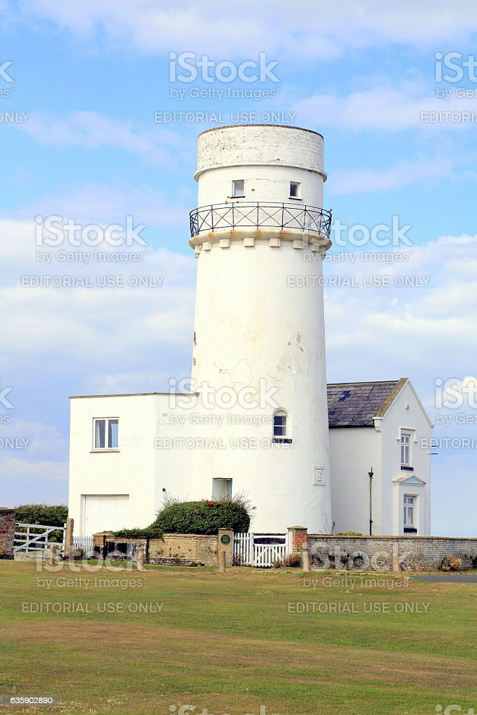 The Lighthouse, Hunstanton, West Norfolk. stock photo