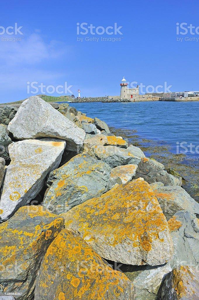 the lighthouse in howth near dublin, ireland royalty-free stock photo
