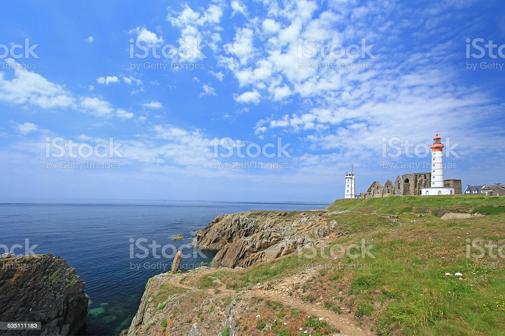 The Lighthouse of Saint Mathieu, France stock photo
