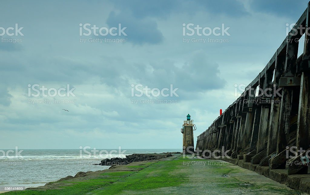 The lighthouse-L.Estacade-France stock photo