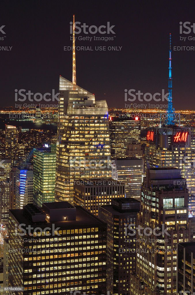 The lights of the NYC. stock photo