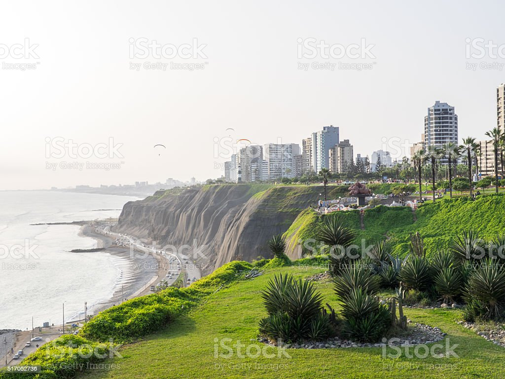The Lima Coastline stock photo
