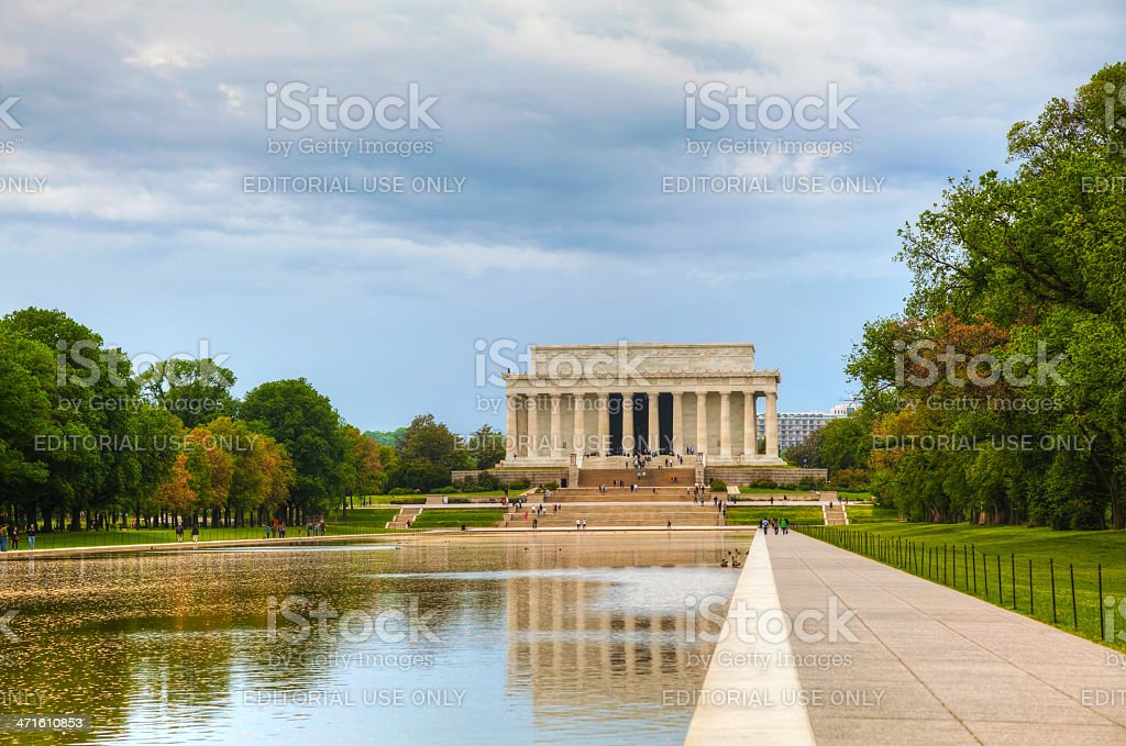 The Lincoln Memorial in Washington, DC royalty-free stock photo