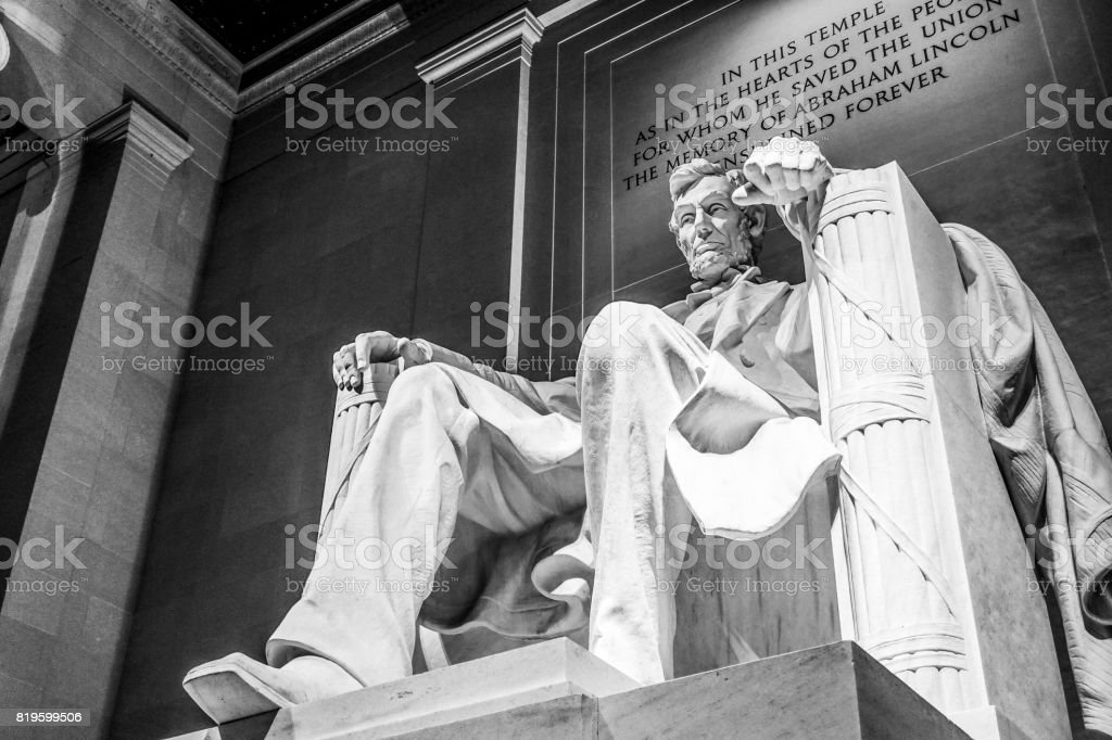 The Lincoln Memorial in Washington DC stock photo