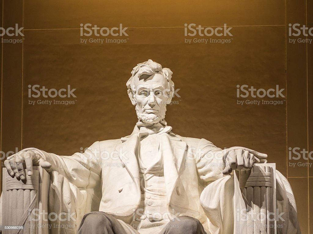 The Lincoln statue stock photo