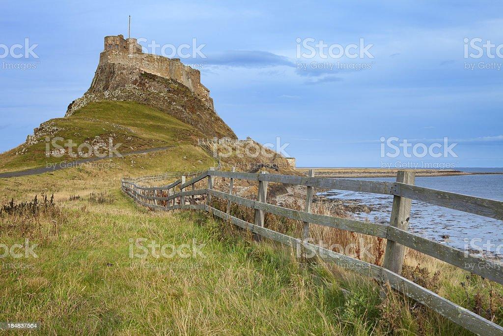 The Lindisfarne Castle on Holy Island, Northumberland, England stock photo