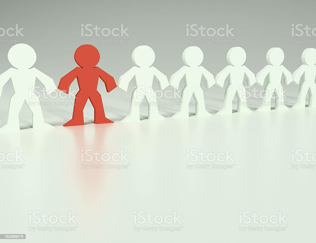 The Lineup royalty-free stock photo