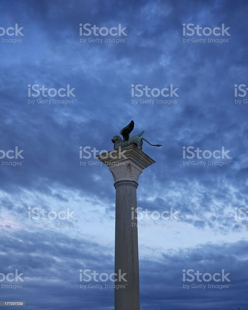 The lion of St. Mark royalty-free stock photo