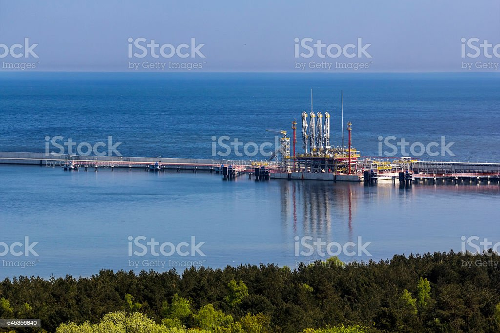 The liquid natural gas offshore terminal, Poland stock photo