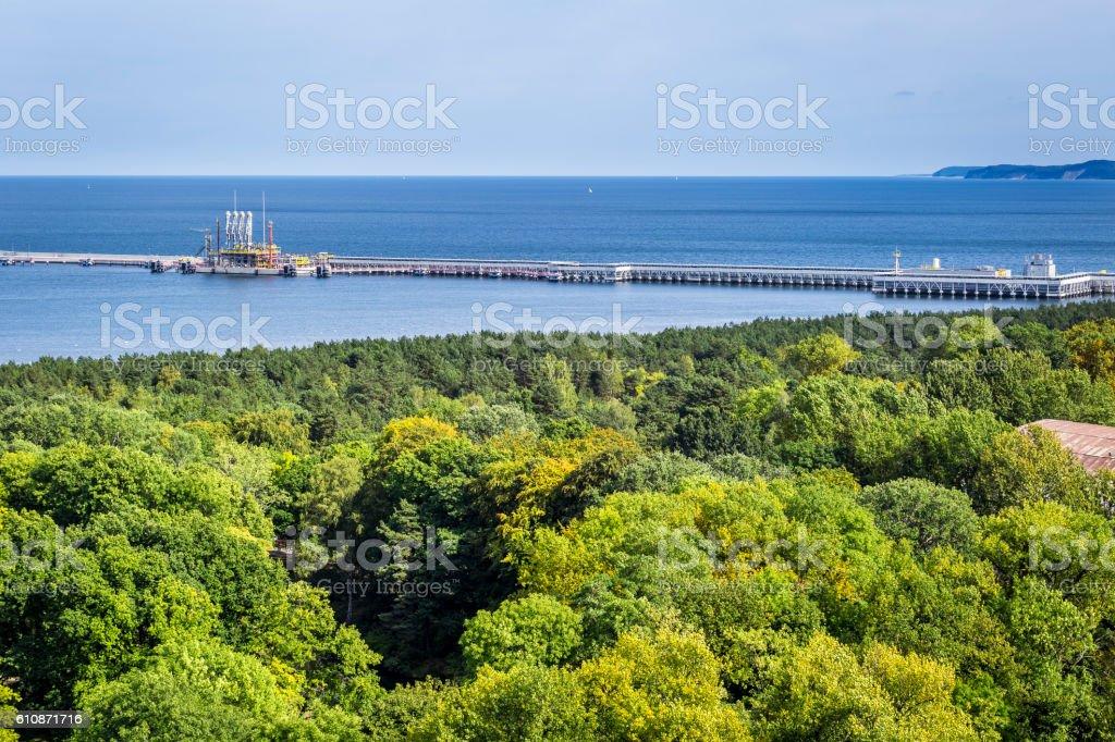 The liquid natural gas offshore terminal, Poland stock photo