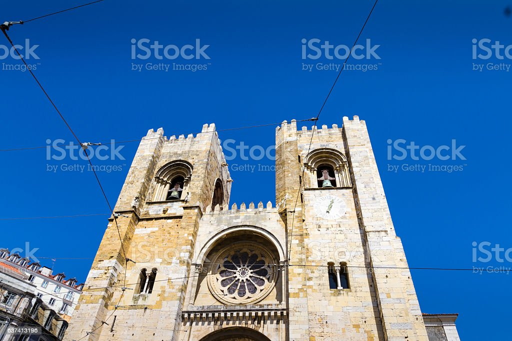 The Lisbon Cathedral in Portugal stock photo