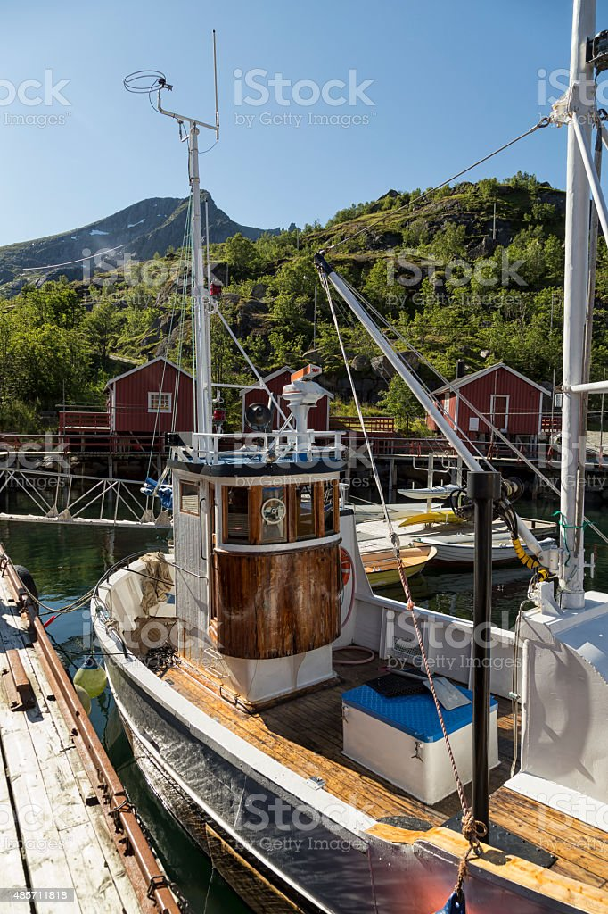 The little fish boat royalty-free stock photo