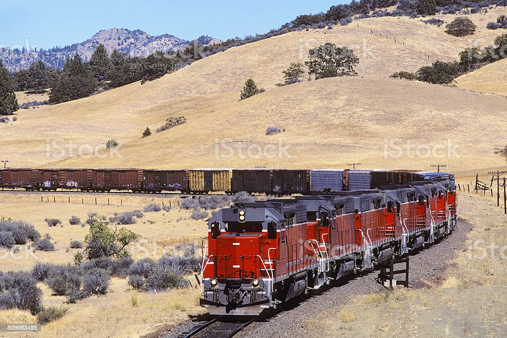 The little red engines that could! stock photo