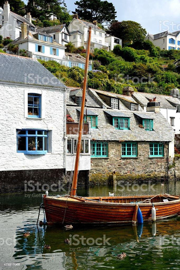 El pequeño barco de madera foto de stock libre de derechos