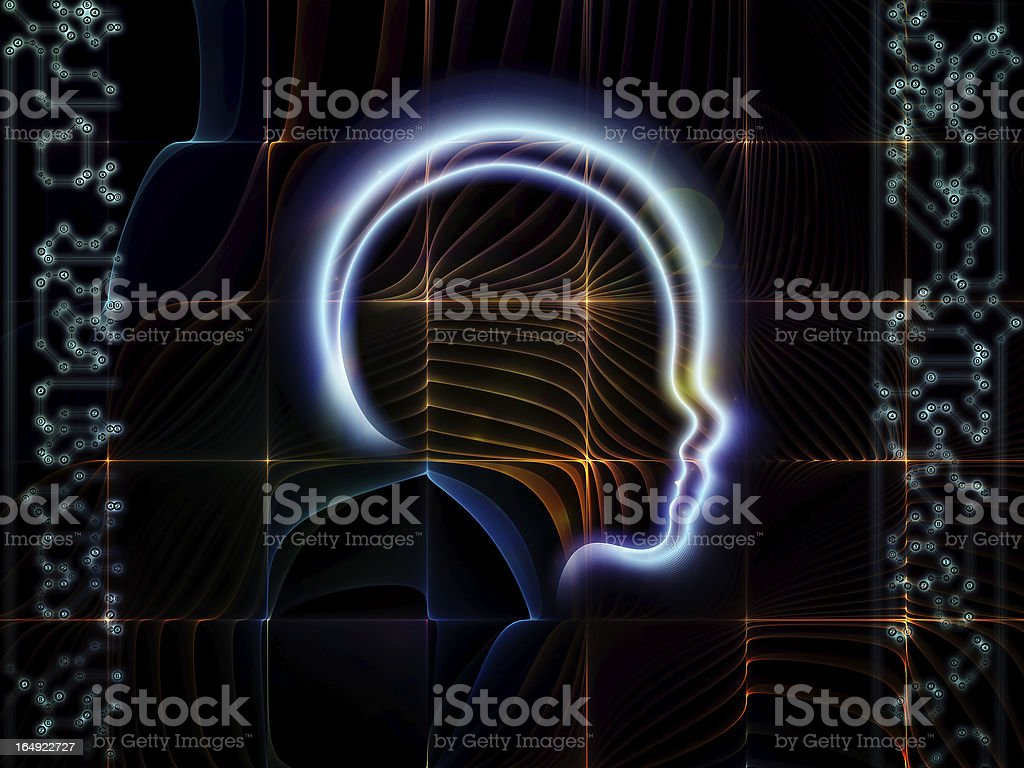 The Living Human Technology royalty-free stock photo