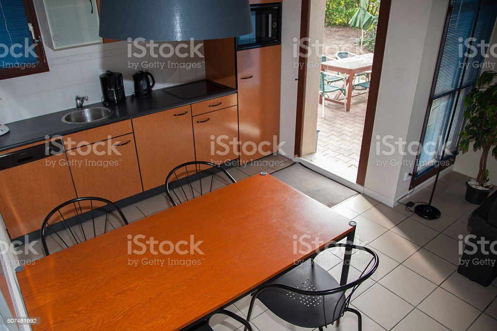 The living room furniture set in a modern house stock photo