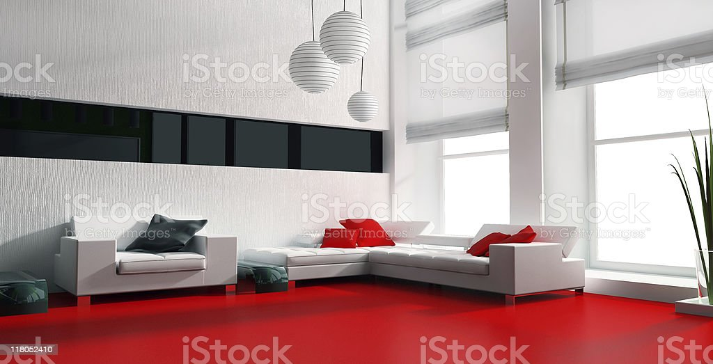 The living room in a house with white furniture royalty-free stock photo