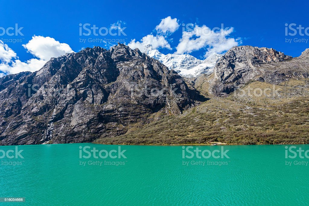 The Llanganuco Lakes stock photo