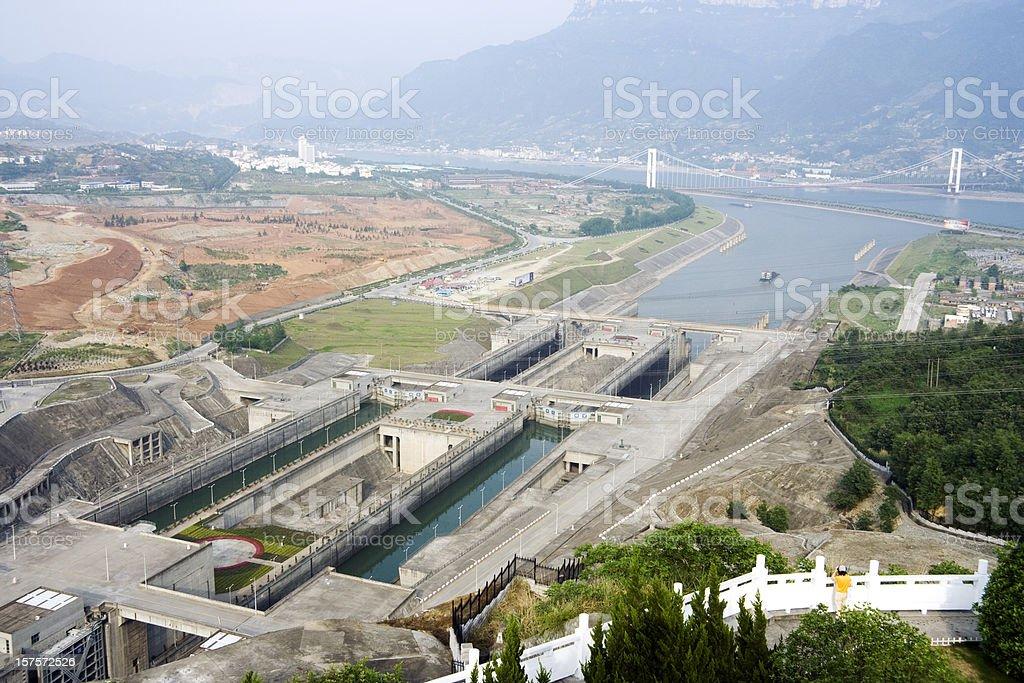 The Locks at Three Gorges Dam stock photo