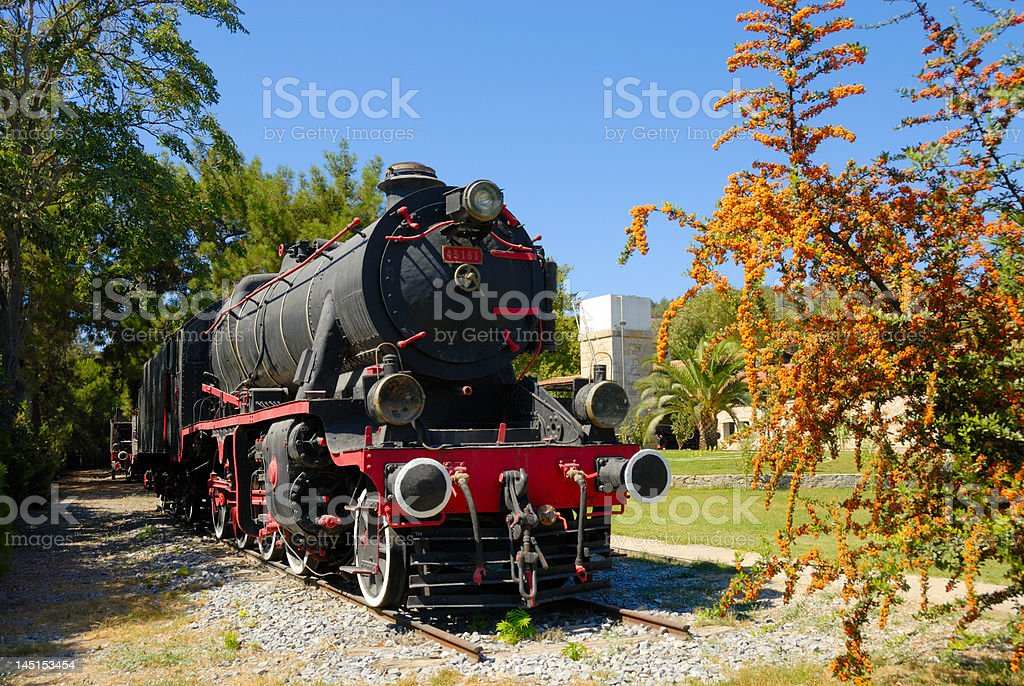 The locomotive in a museum of Turkey royalty-free stock photo