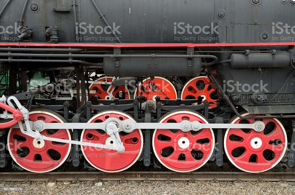 The locomotive in the city Museum. stock photo
