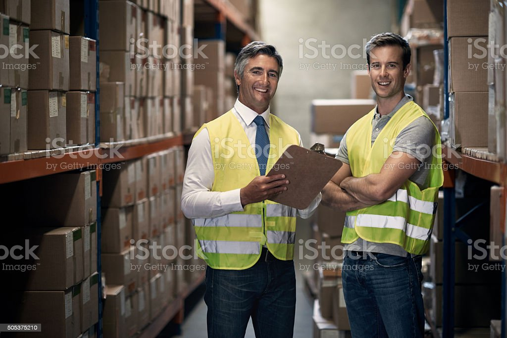 The logistics team you can trust stock photo
