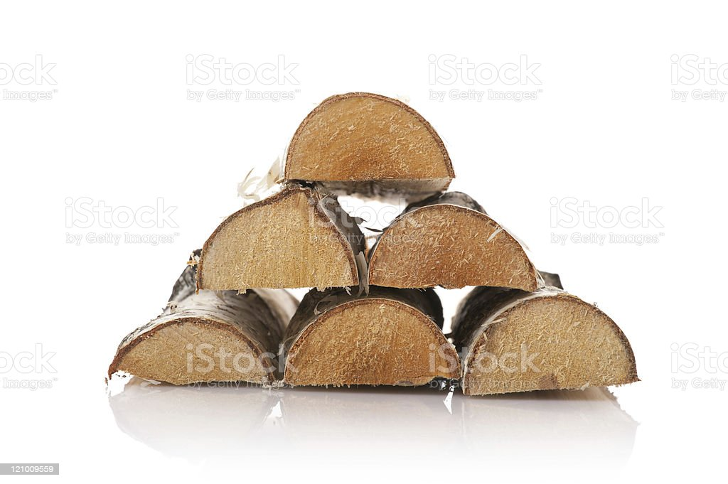 The logs of fire wood stock photo