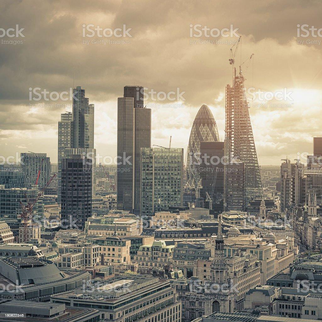 The london city skyline stock photo