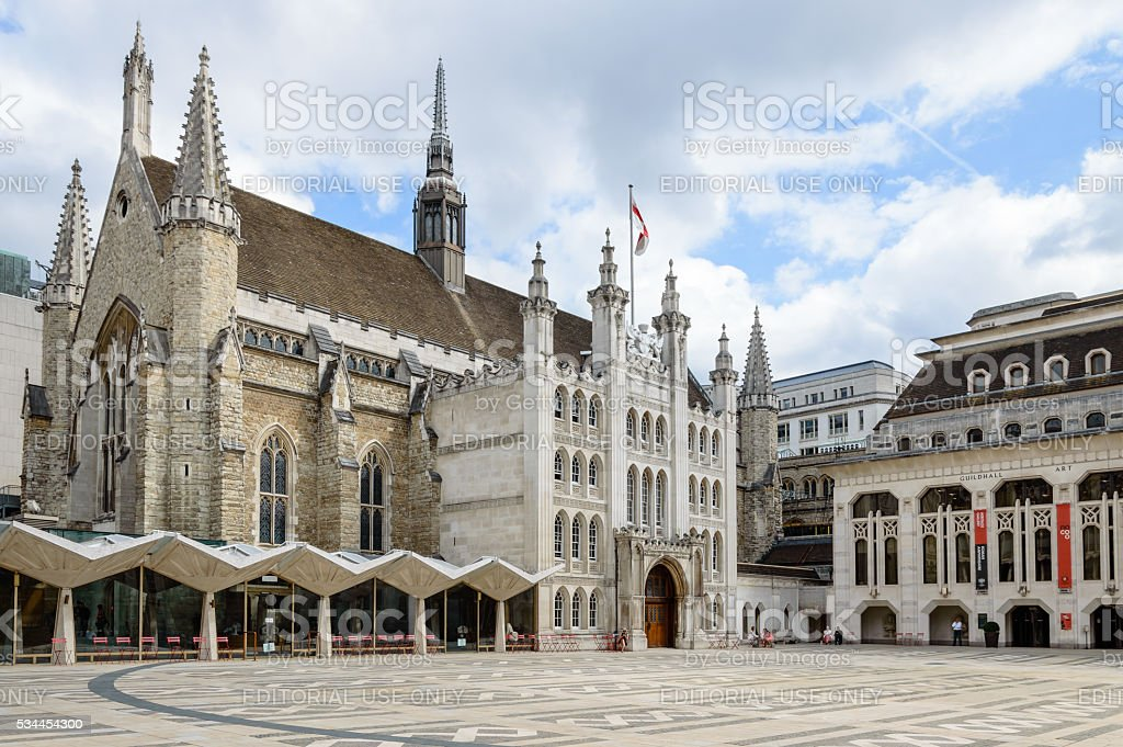 The London Guildhall stock photo