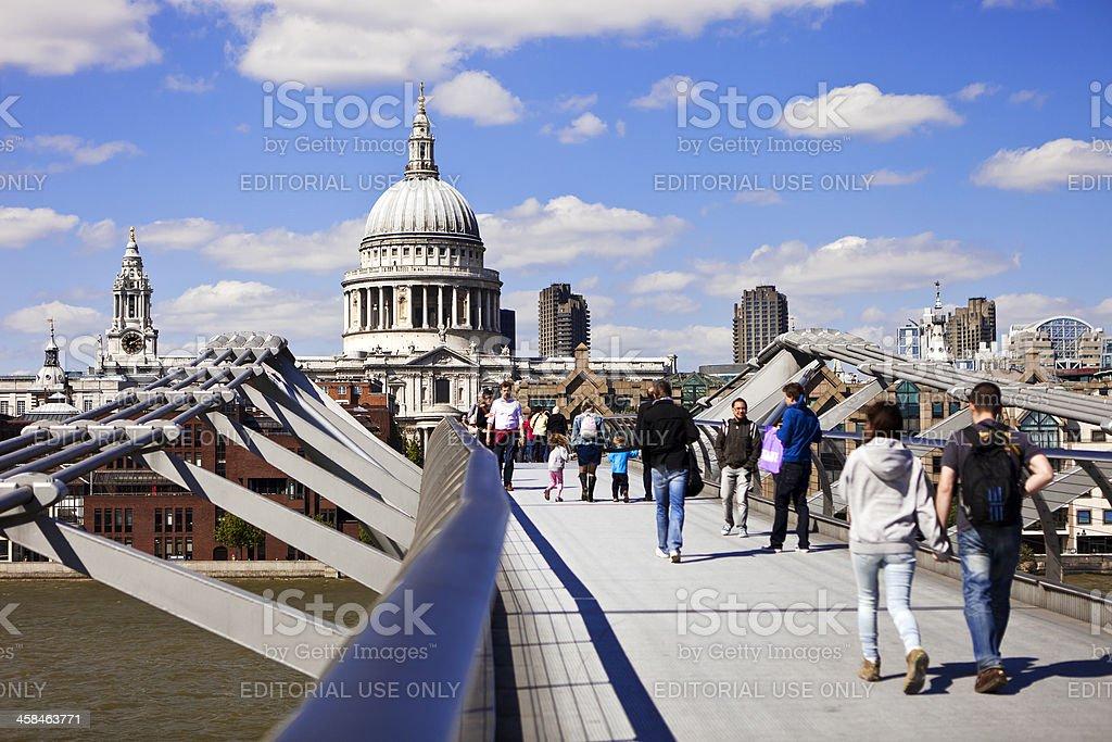 The London Millennium Footbridge royalty-free stock photo