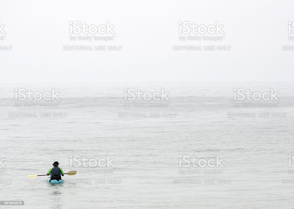 The Lone Kayak stock photo